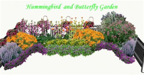 Hummingbird And Butterfly Garden Plan Pdf Gardening Hummingbird Garden Layout