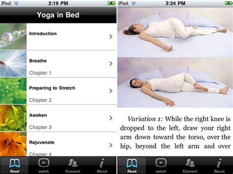 yoga bed yoga in bed gezond dankzij deze apps