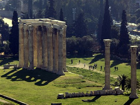 athens temple of mount olympus zeus home flickr