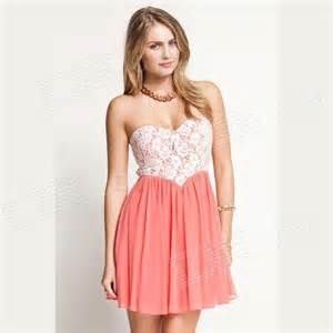 cute lace dipped bodice dress pink white free