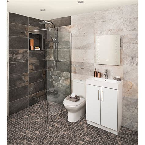 wickes bathroom wall tiles wickes aspen carbon grey mosaic porcelain wall floor