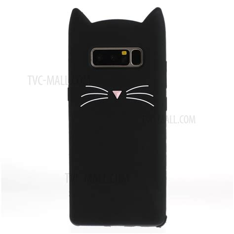 Casing Samsung Galaxy Note 3 Black Cat Officer Custom Hardcasee 3d moustache cat silicone for samsung galaxy note 8 sm n950 black tvc mall