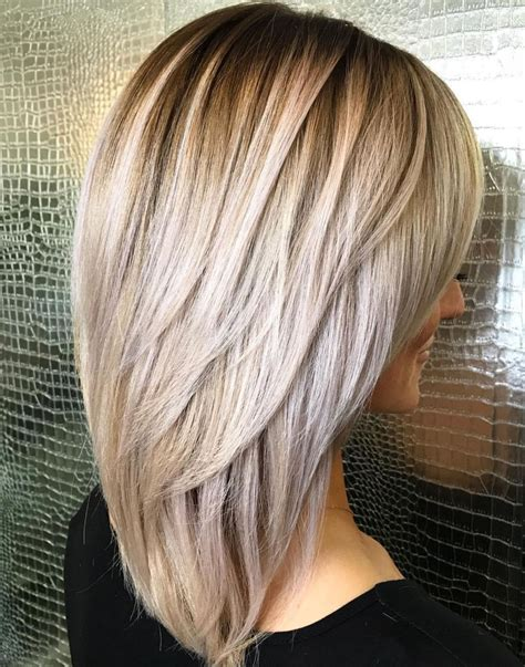 20 photo of straight rounded lob hairstyles with chunky
