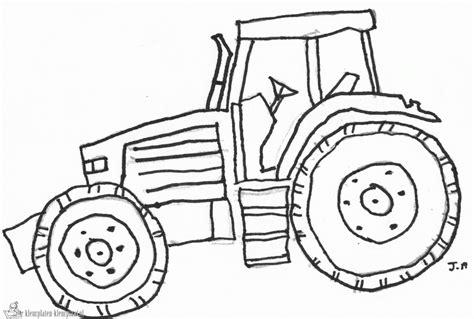 easy tractor coloring page kleurplaten traktor kleurplaten kleurplaat nl