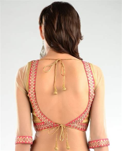 New Blouse Style8 saree blouse back designs catalogue collection 2014 for indian