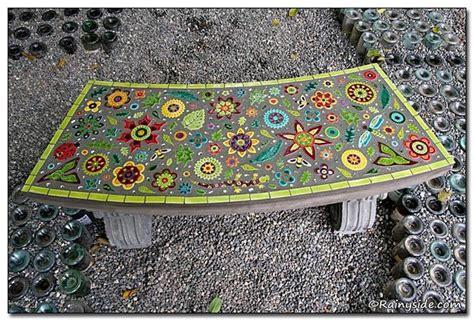 mosaic bench mosaic bench mosaics pinterest