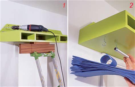 mensole a soffitto portaoggetti di tessuto plastico a scomparti bricolage