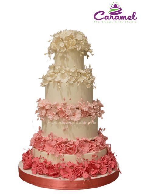 Wedding Cake Qatar by Ombre Wedding Cake Cake By Caramel Doha Cakesdecor