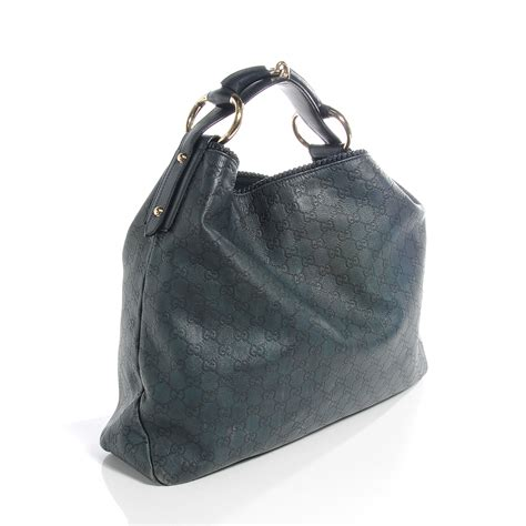 Gucci Chain Large Hobo by Gucci Guccissima Large Horsebit Chain Hobo Blue 56477
