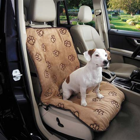 Cover For Dogs by Cruising Companion Pawprint Single Car Seat Cover Camel
