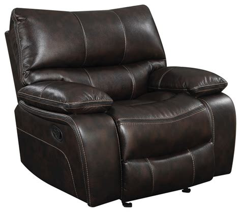 coaster willemse recliner with lumbar support chocolate