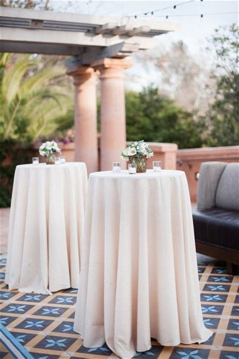 cocktail table linen ties intimate california ranch wedding receptions