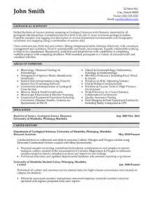 Geology Resume Exles by Top Geology Resume Templates Sles