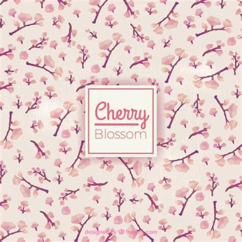 Pictures Of Cherry Blossoms by Watercolor Little Cherry Blossom Background Vector Free