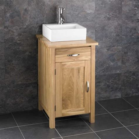 Countertop Basin Cabinets by Freestanding Oak Bathroom Cabinet Basin Countertop Vanity
