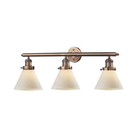 Antique Vanity Lights Shop Innovations Lighting 3 Light 11 In Antique Copper Cone Vanity Light Bar At Lowes