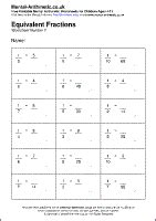 equivalent fractions worksheets free free equivalent