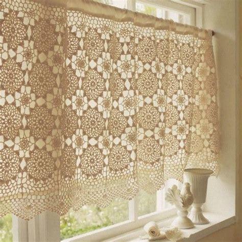Crochet Cafe Curtains Crochet Curtain Filet Crochet Pinterest