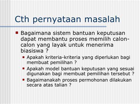 kriteria membuat rumusan masalah bab1 lec 22