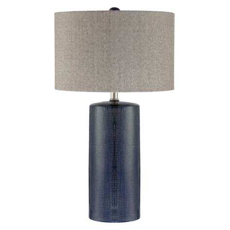 blue and white table ls lite source jacoby navy blue table l with drum shade