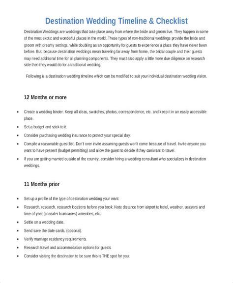 Destination Wedding Planner by 6 Wedding Planner Printable Sle Exles In Word Pdf