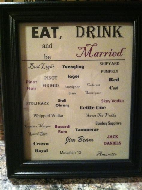 lalas wedding drink menu lala wedding pinterest