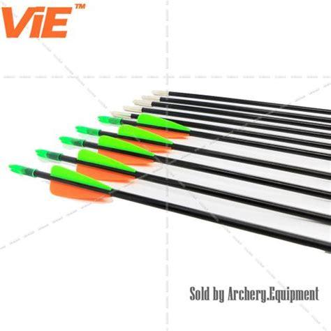 Arrow Fiber 6mm Spine 700 31 inch spine 1200 fiberglass shaft arrows with 3 inches plastic vans plus target point 12 pack