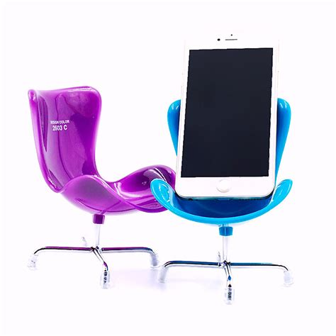Plastic S Shaped Mobile Phone Stand Holder Green 2010 4 x mobile phone holder novelty chair desk stand iphone