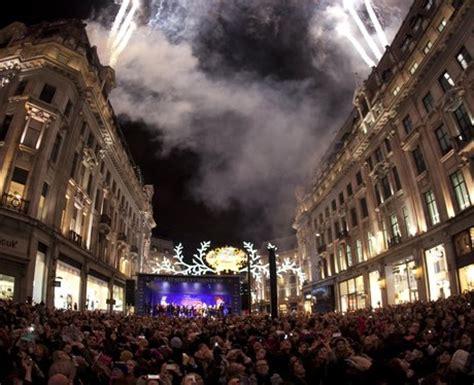 regent street lights up with an impressive fireworks