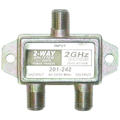 Spliter Tv 2 Way 2 way coaxial splitter 2 ghz 90db dc passing on both ports