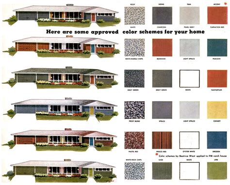 exterior color combinations for houses modern exterior paint colors for houses mid century