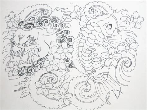 foo dog and koi tattoo tattoomagz com tattoo designs