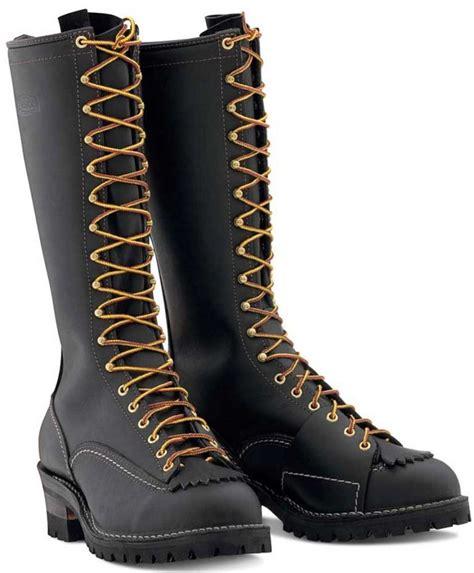 wesco highliner work boots 16 quot vibram soles black lineman