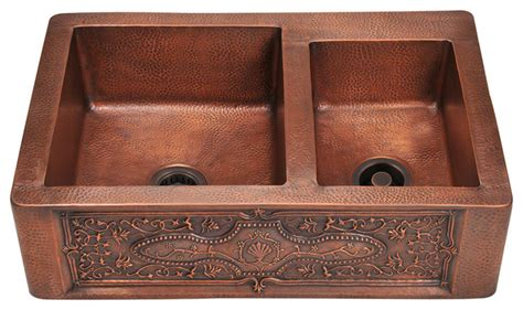 mr direct 911 copper apron sink 2 copper strainers