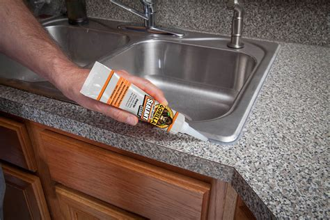 How To Caulk A Kitchen Sink Gorilla 100 Silicone Sealant Clear 2 7 Oz 8090002 Megahardwarett