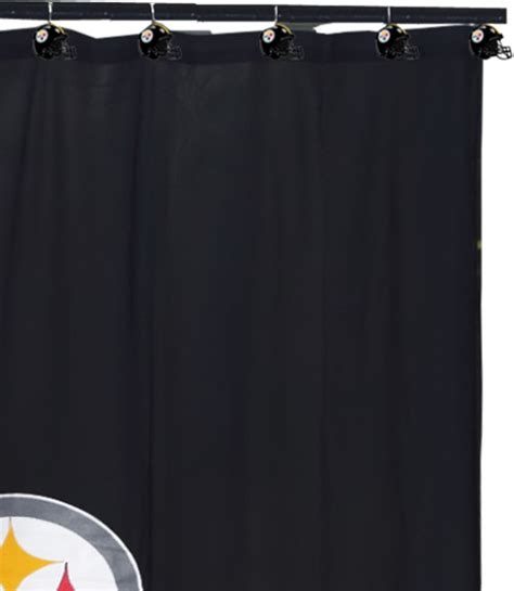 steeler shower curtain nfl pittsburgh steelers shower curtain rings football
