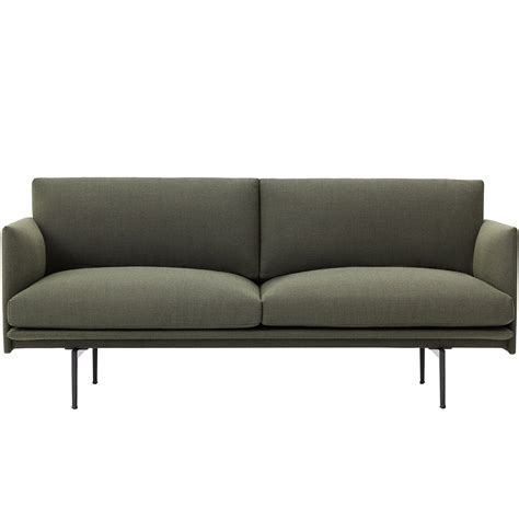 2 Sitzer Sofa Mit Ottomane by Outline Sofa 2 Seater By Muuto In The Shop