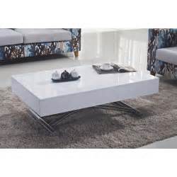 table basse relevable blanc