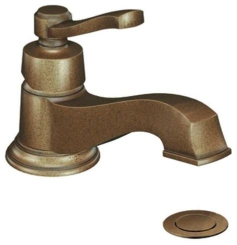 Antique Bronze Bathroom Fixtures Moen S6202az Antique Bronze Rothbury Single Handle Bathroom Faucet Contemporary Bathroom