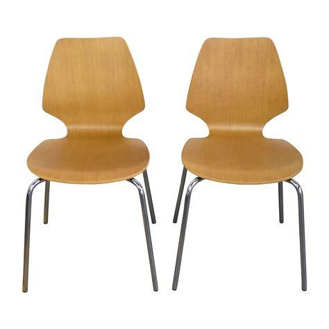 west elm desk chair 31 off west elm west elm scoop back natural wood chairs