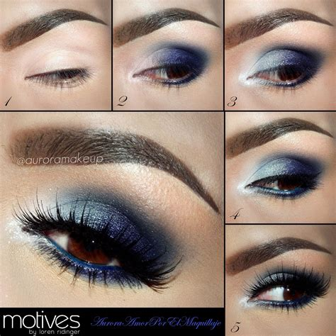 tutorial makeup ultima ii how to apply eyeshadow for brown eyes blue eye shadow