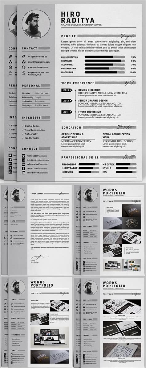 resume portfolio template 1000 ideas about templates free on cover