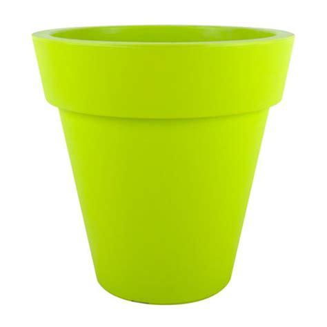 pot plastique jardin pot plastique 216 45cm vert 100 recyclable 45x45x achat