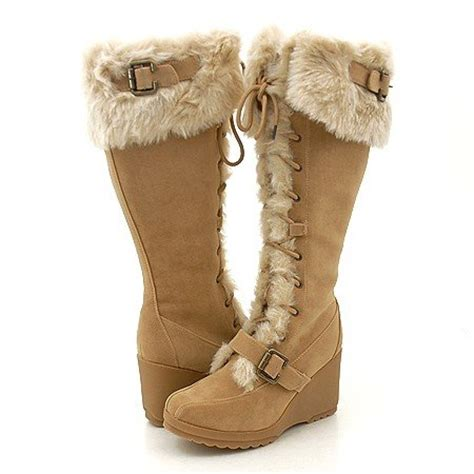 fuzzy winter boots bliss by camellia winter fad sheepskin boots