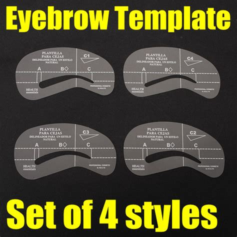 4 styles eyebrow stencil template make up shaping tool