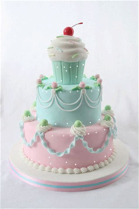 Pretty Birthday Cake. Free Birthday Wishes eCards