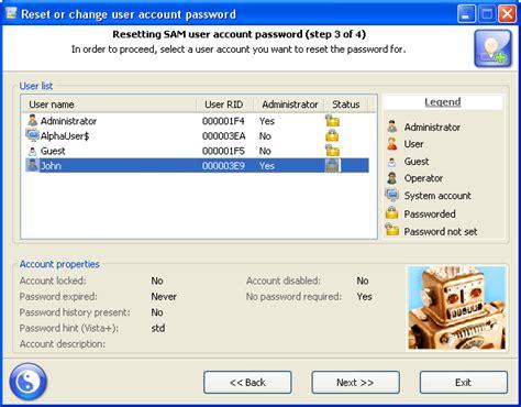 resetting windows security password reset windows password download