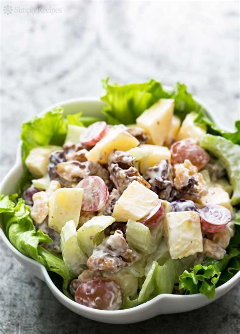 salad recipes waldorf salad recipe simplyrecipes com