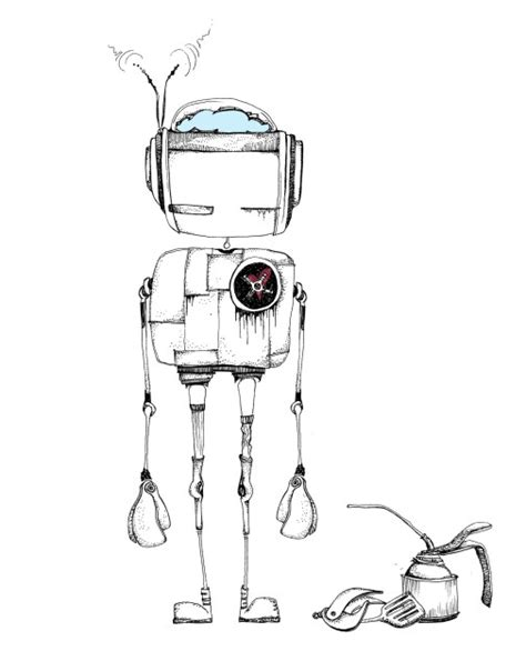 Drawing Robot by How To Draw A Robot Pyragraph