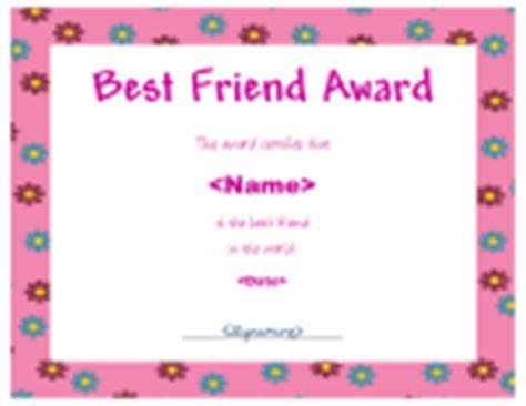best friend certificate templates tales farm peace sports and friendship efl tefl